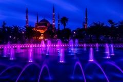 Die blaue Moschee zur blauen Stunde - Istanbul