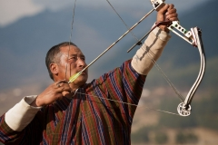 Bhutanischer Bogenschütze
