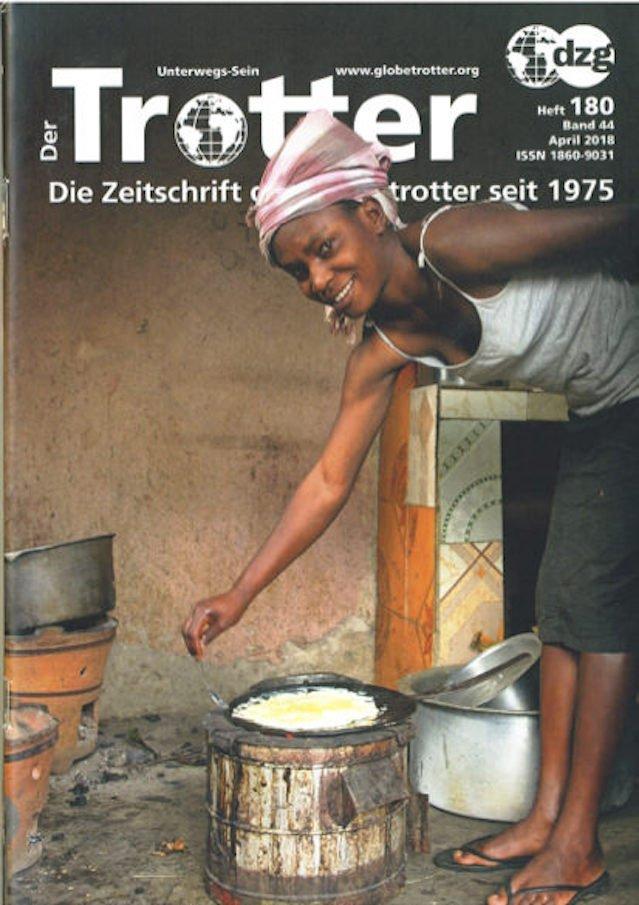 "Reportage über Thorge Bergers Multivisions-Show ""Kumbh Mela"" im Magazin Der-Trotter - Ausgabe -2018-04"