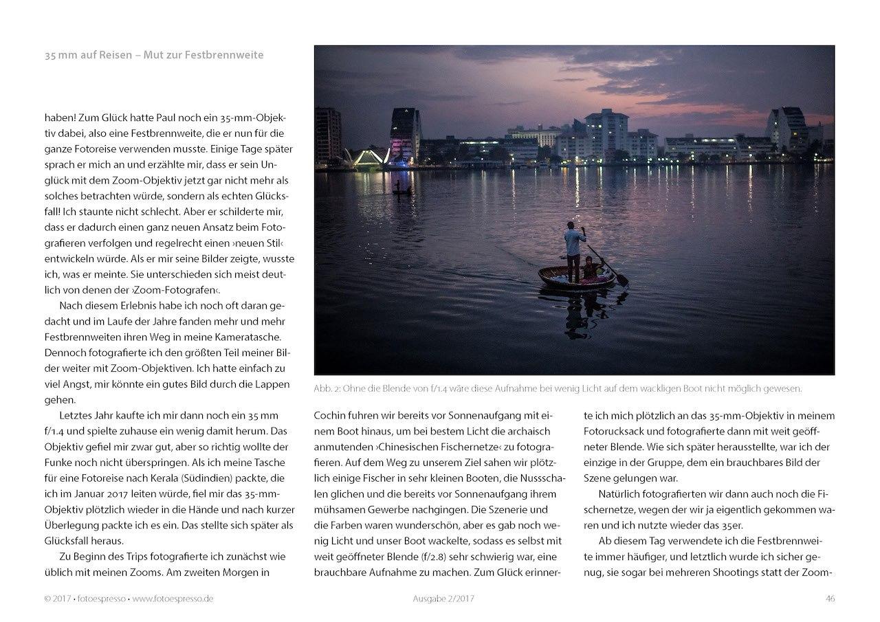 Objektive für Reisefotografie: Festbrennweite auf Reisen - ein Erfahrungsbericht von Thorge Berger im Fotoespresso 2017-02