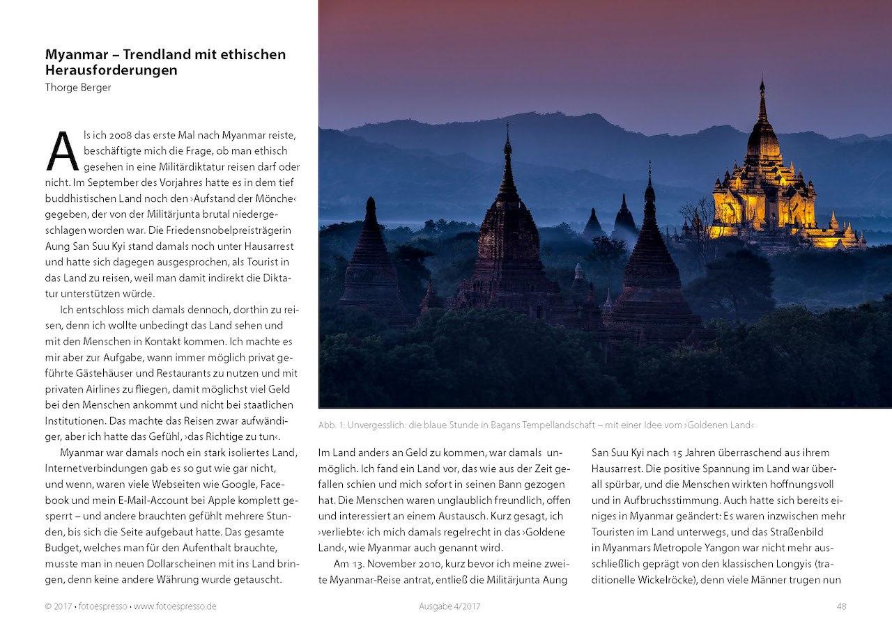 Fotoreise nach Myanmar - eine Coverstory im Fotoespresso 2017-04 von Thorge Berger