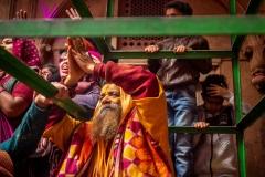 Sadhu beim Holi Fest