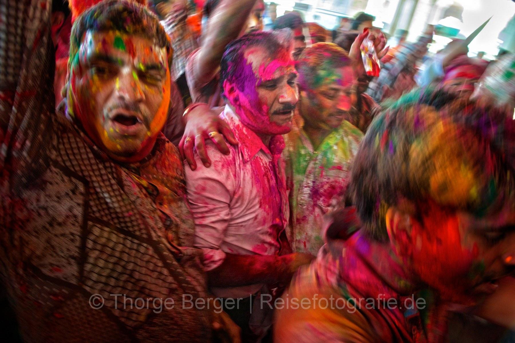 Celebrating holi - Jaipur