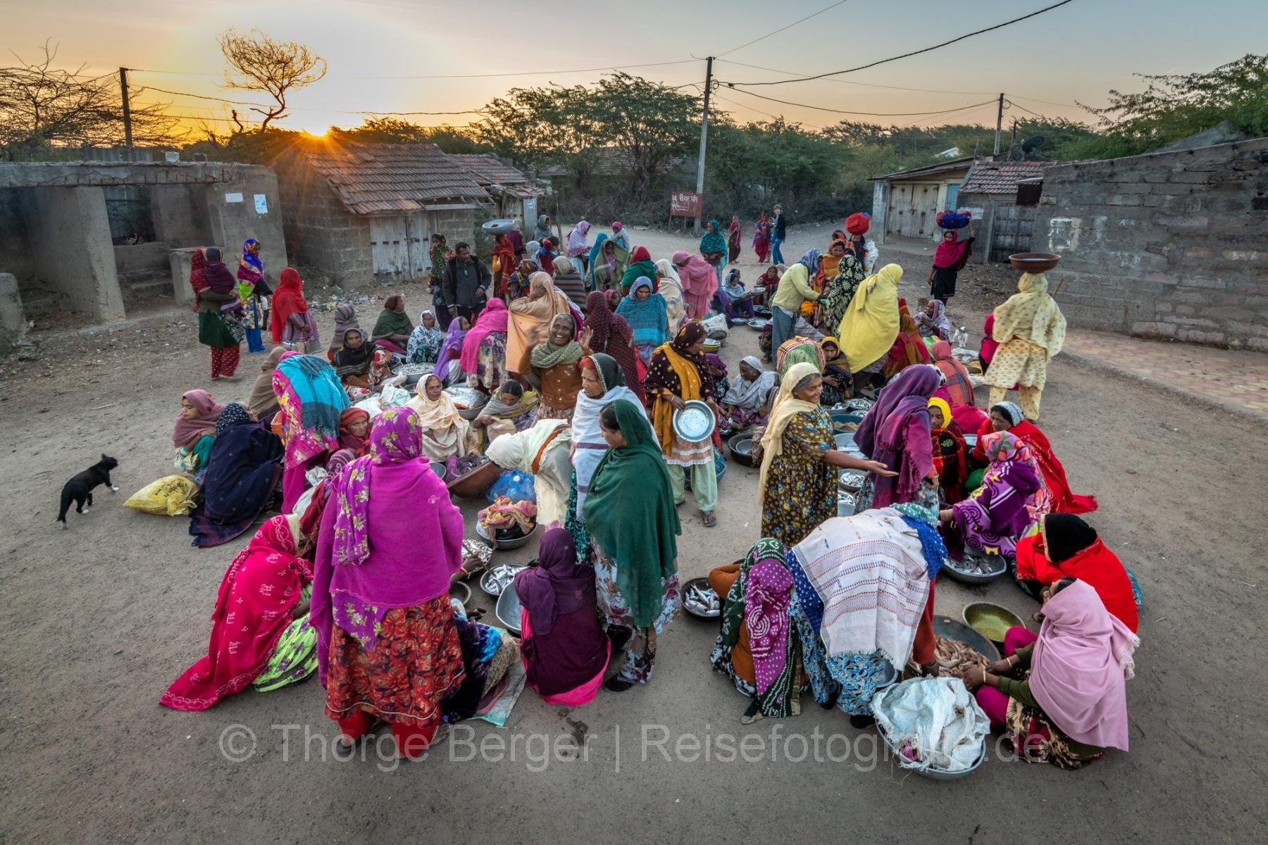 Fishmarket in a village in Gujarat