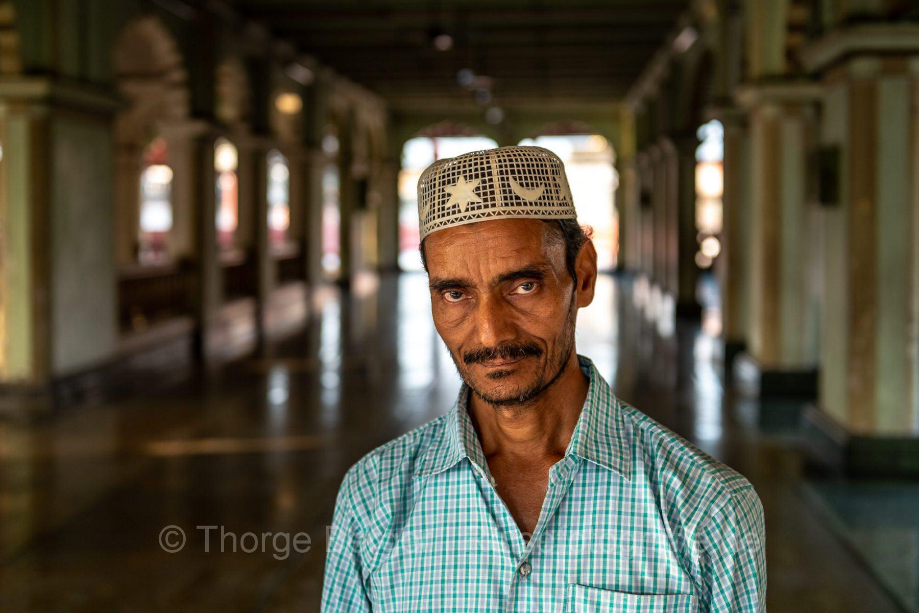 Muslim in a mosque in Kolkata