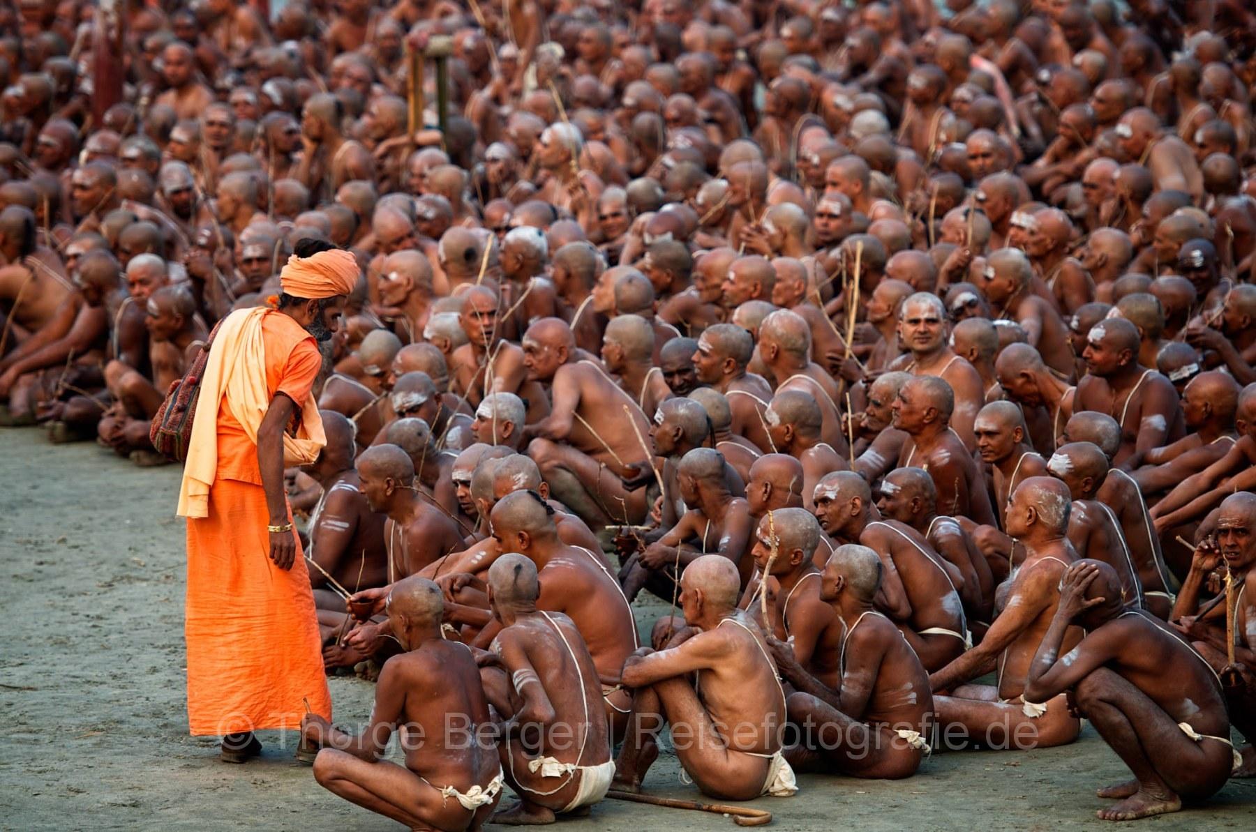 Sadhu aspirants at the Kumbh Mela
