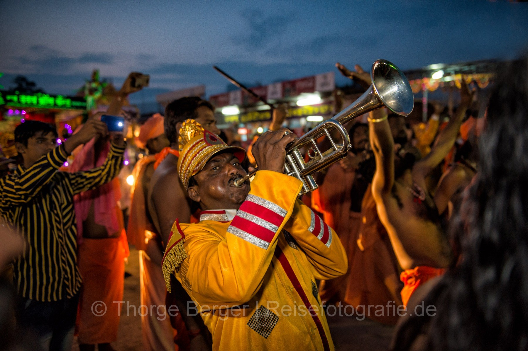 Trumpet player - Kumbh Mela