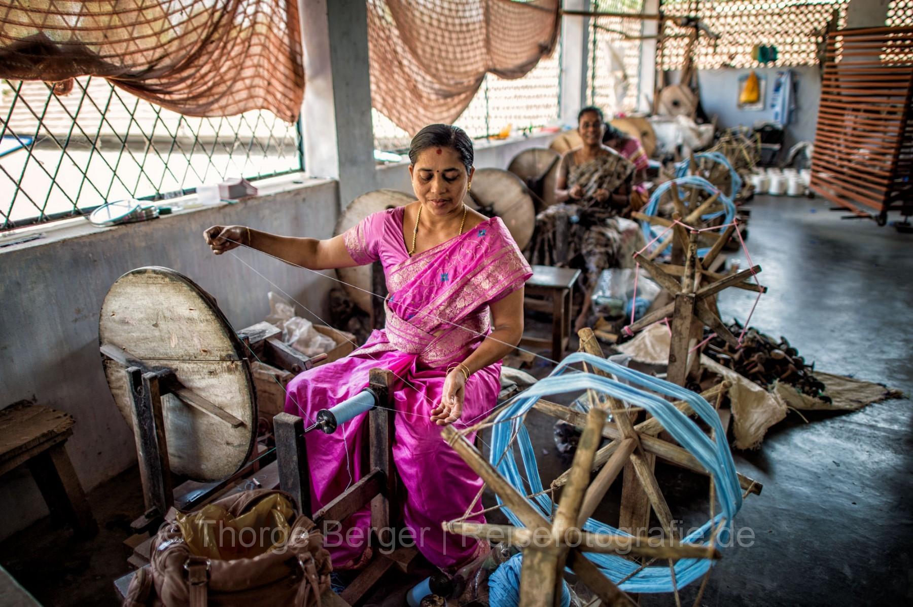 Weaving mill in Kerala