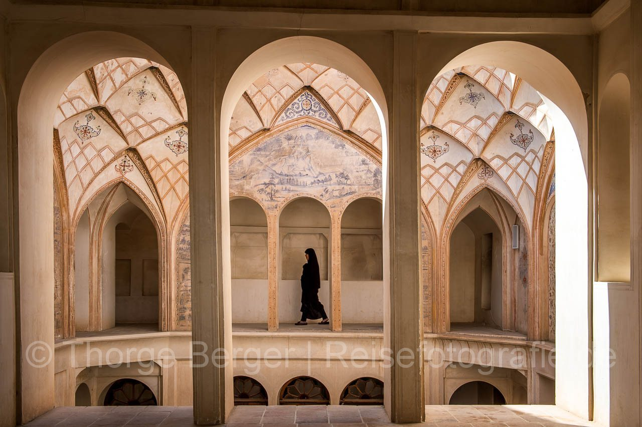 In the Tabatabai House in Kashan