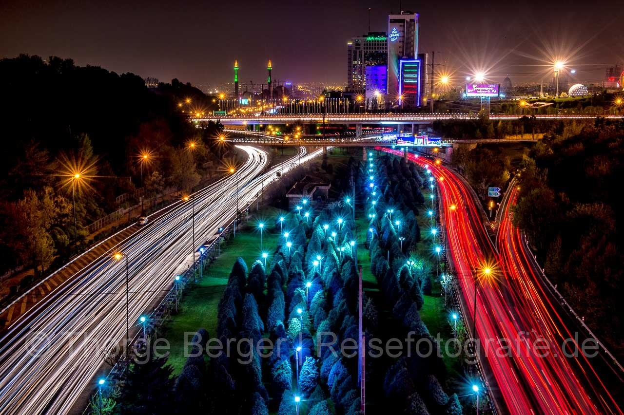 Light Trails in Teheran