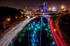 Light Trails in Teheran