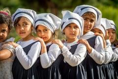 School kids in Eram Garden, Shiras