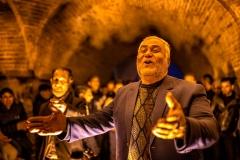 Singer under the bridge in Esfahan