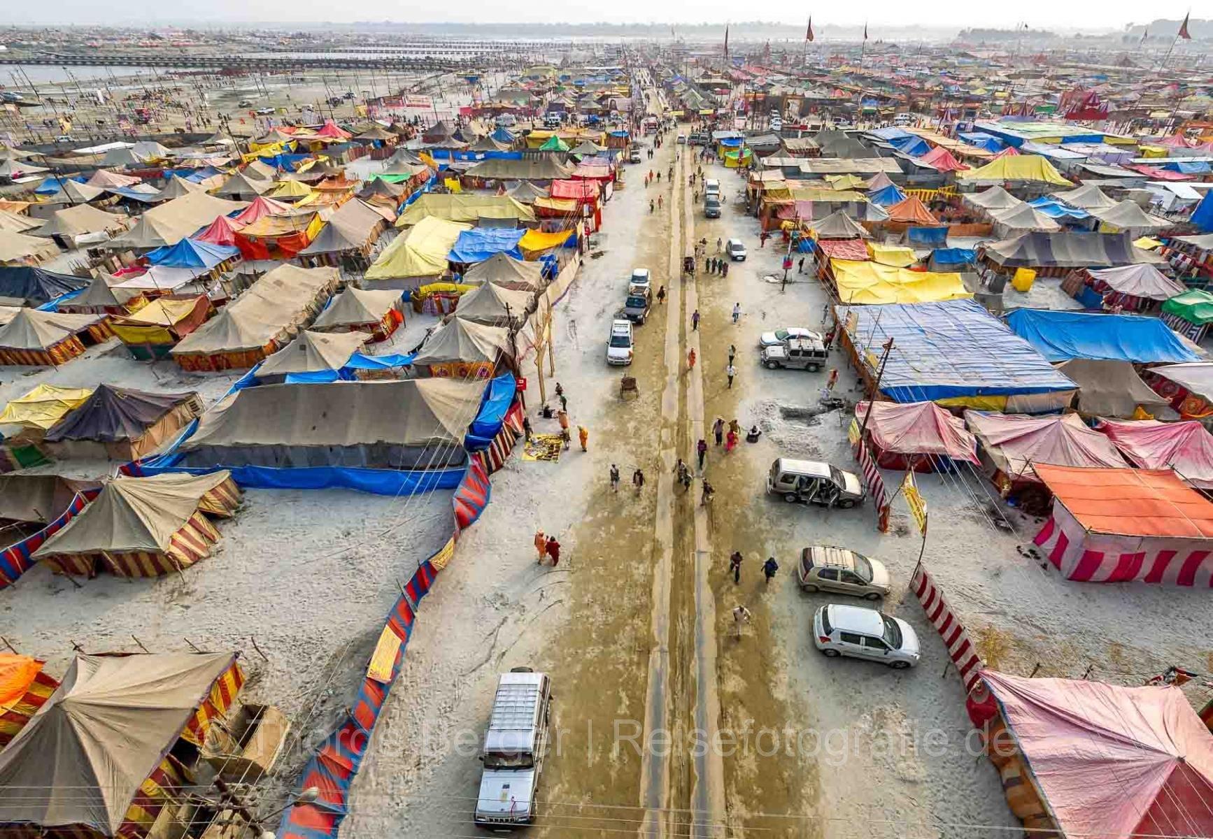 "Die Pilgerstadt ""Kumbh Nagar"" in Allahabad"
