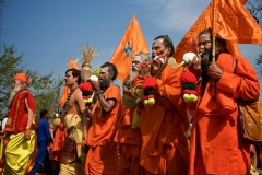 Parade von Sadhus - Kumbh Mela 2010 in Haridwar