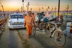 Unterwegs in der Kumbh Nagar in Allhabad