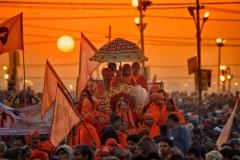 Parade auf dem Sangam - Kumbh Mela 2013 in Allahabad