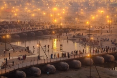 POntobrücken über den Ganges -  Kumbh Mela 2013 in Allhabad