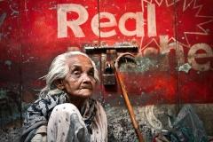 Real - Beggar in Varanasi