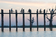 The U Bein Bridge in Amarapura, Mandalay