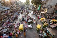 Strassenmarkt in Ahmedabad, Indien
