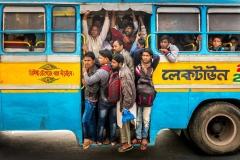 Busfahrer in Kalkutta, Indien