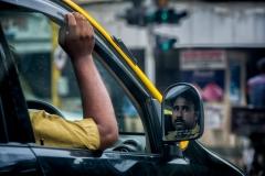 Taxifahrer in Mumbai, Indien