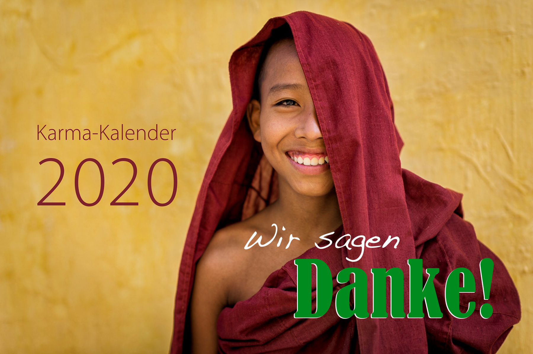 Karma-Kalender 2020 - Wir sagen Danke!