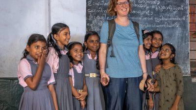 Antje Barthel-Haas auf Fotoreise in Kerala, Südindien