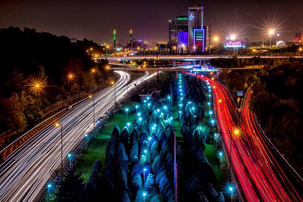 Reisefotografie: Teheran bei Nacht