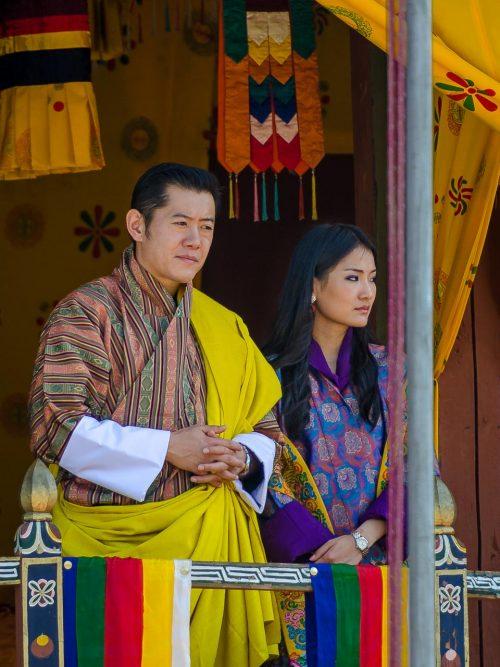 Reisefotografie - König und Königin von Bhutan