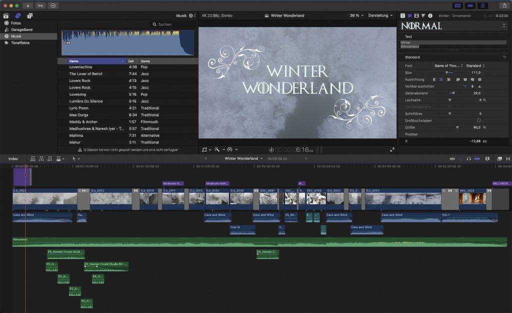"Reisefotografie-Video: Timeline ""Winter Wonderland"""